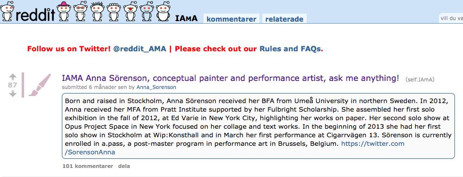 Anna Sörenson_Reddit_IAMA