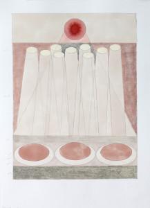 Frön i världen 1, collage on paper, 29.7 x 42 cm.