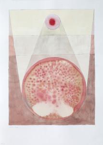 Frön i världen 4, collage on paper, 29.7 x 42 cm.